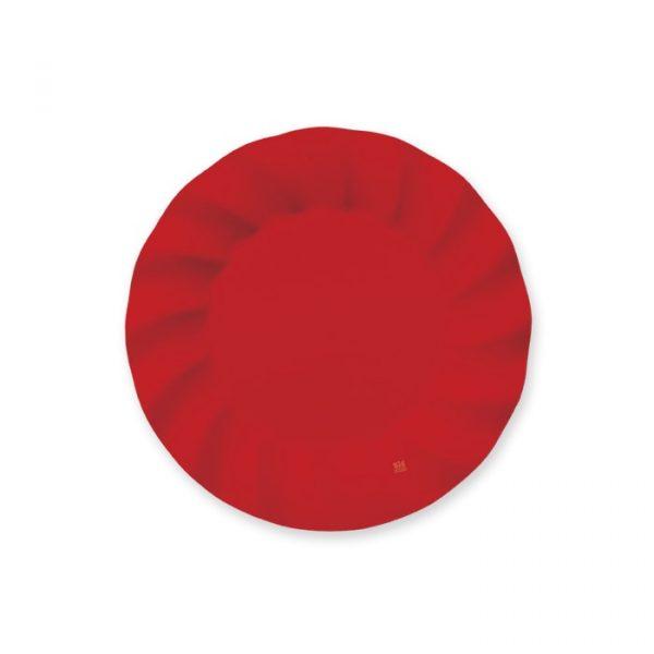 8 Piatti 20 cm Wavy Red