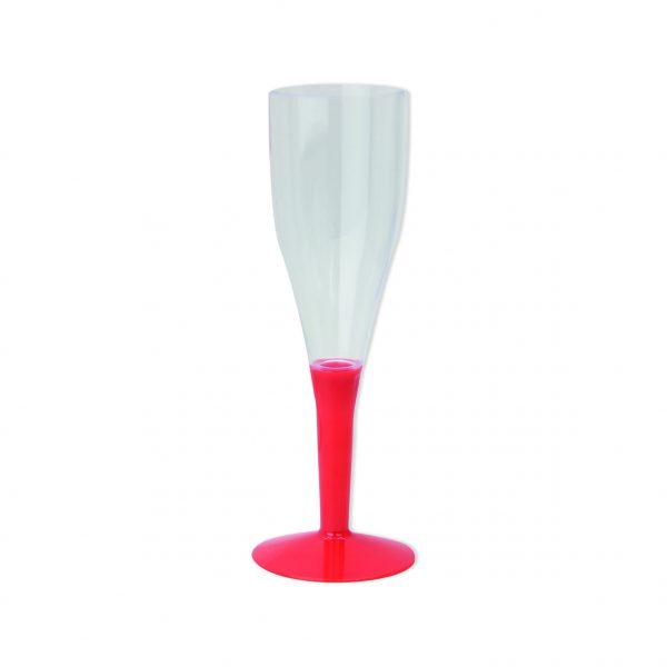 6 Maxi Flute in plastica con base Rossa