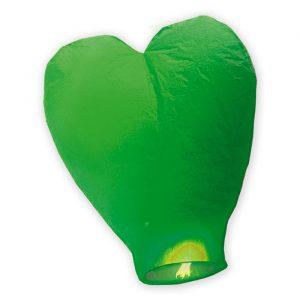 Lanterna Dei Cieli 100 cm Cuore Verde