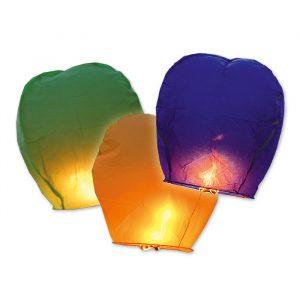 96 Lanterne Dei Cieli 100 cm Colori Assortiti