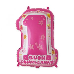 """Palloncino Mylar a Forma 25"""" / 45 x 62 cm One Pink"""