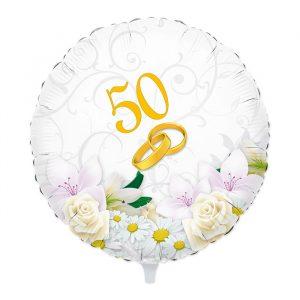 """Palloncino Mylar 18"""" 50° Anniversario"""