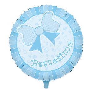 "Palloncino Mylar 18"" Battesimo Baby Celeste"