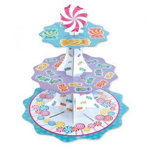 Alzatina in cartoncino a 3 piani da 35 - 26 - 21 cm x h35 cm Candy