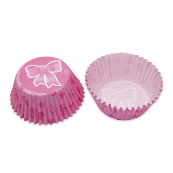 48 Pirottini in carta alimentare Ø 50 - h 32 mm Il Mio Battesimo Rosa