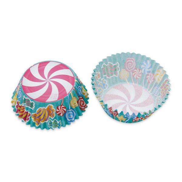 48 Pirottini in carta alimentare Ø 50 - h 32 mm Candy (e Lecca Lecca)