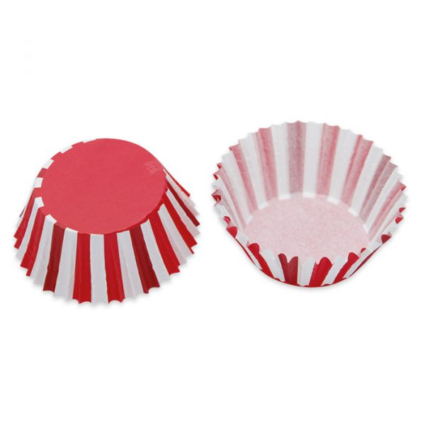 48 Pirottini in carta alimentare Ø 50 - h 32 mm Stripes Rosso