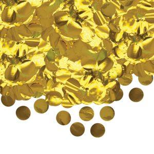 Coriandoli in Foil Tondi Ø cm.4 Oro Metal gr.50