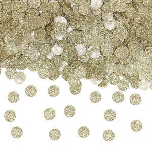 Coriandoli in Plastica Ø 1 cm 20 gr Oro Glitter