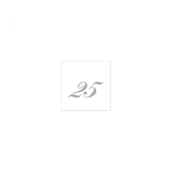 20 Tovaglioli Bianchi 25 x 25 cm 25° Anniversario
