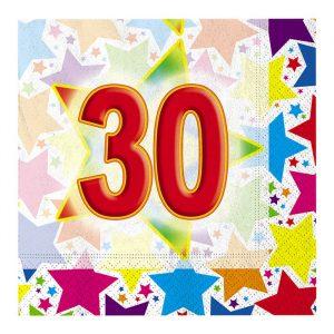 20 Tovaglioli 33 x 33 cm Stardust  30
