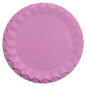 5 Sottopiatti Diamant Ø 32 cm Rosa