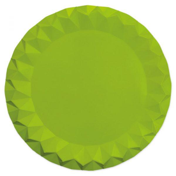 5 Sottopiatti Diamant Ø 32 cm Verde Mela