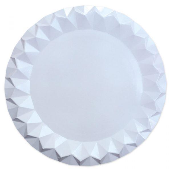 5 Sottopiatti Diamant Ø 32 cm Bianchi