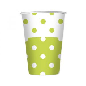 6 Bicchieri 470 cc Pois Verde Mela