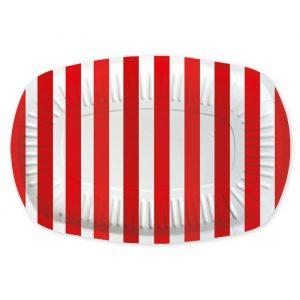 5 Vassoi Rectangle 20 x 30 cm Stripes Rosso