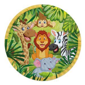 8 Piatti Ø 24 cm Jungle