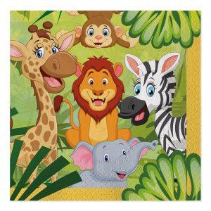 20 Tovaglioli 33 x 33 cm Jungle