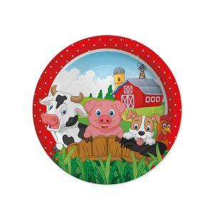 8 Piatti Ø 18 cm Farm
