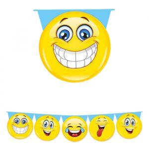 Festone Sagomato in plastica 600 x 25 cm Emoticons