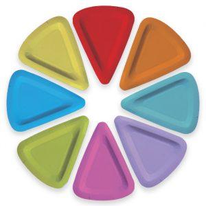 8 Piatti MIX 19 x 25 cm Color Wheel