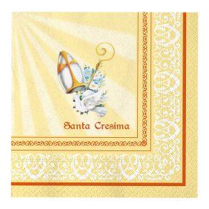 20 Tovaglioli 33 x 33 cm Santa Cresima