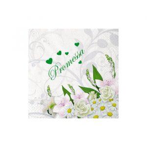 20 Tovaglioli 25 x 25 cm Promessa Bouquet