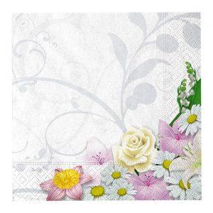 20 Tovaglioli 33 x 33 cm Bouquet
