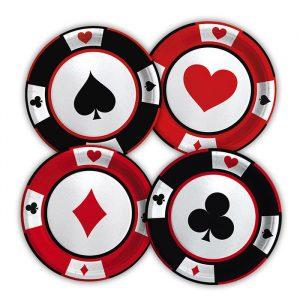 8 Piatti MIX Ø 18 cm Big Poker