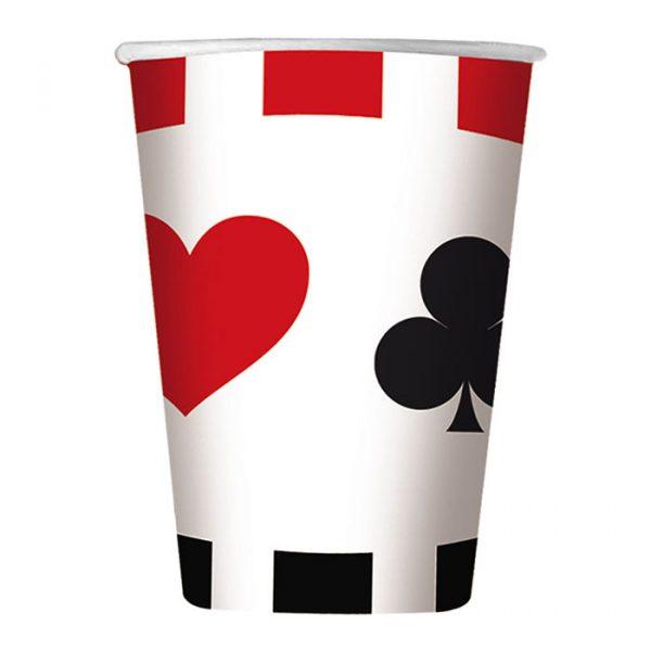 8 Bicchieri 200 cc Big Poker
