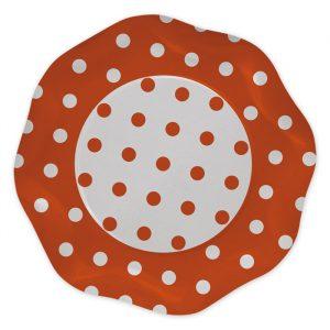 5 Piatti Ø 27 cm Pois Arancio