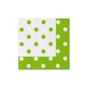 20 Tovaglioli 25 x 25 cm Pois Verde Mela