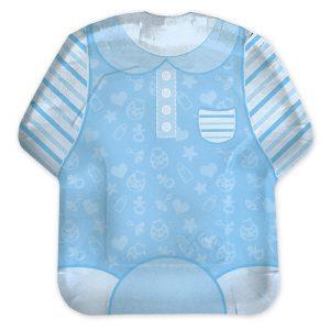 8 Piatti 22 x 22 cm Baby Boy