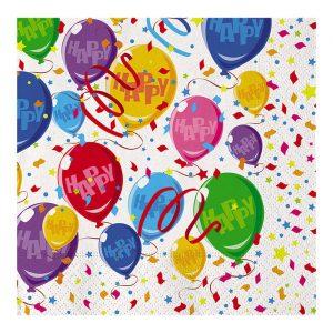 20 Tovaglioli 33 x 33 cm Happy Balloons