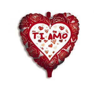 "Palloncino Mylar 18"" Ti Amo Romantic"