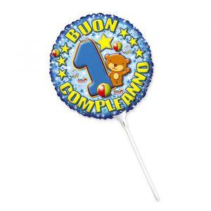 "Palloncino Mylar 9"" Primo Compleanno Toys Celeste"