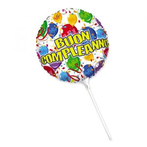 """Palloncino Mylar 9"""" Buon Compleanno Happy Balloons"""