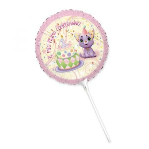 """Palloncino Mylar 9"""" Primo Compleanno Cindy"""