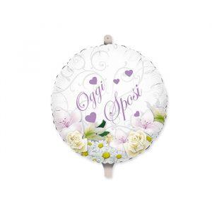 "Palloncino Mylar 18"" Sposi Bouquet"