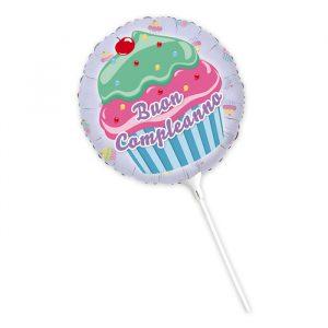 """Palloncino Mylar 9"""" Cupcake"""