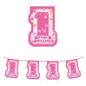 Festone Sagomato in plastica 600 x 25 cm One Pink