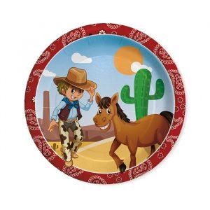 8 Piatti Ø 24 cm Cowboy