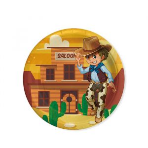 8 Piatti Ø 18 cm Cowboy