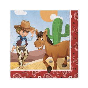 20 Tovaglioli 33 x 33 cm Cowboy