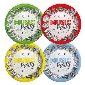 8 Piatti MIX Ø 18 cm Music Party
