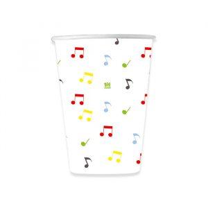 8 Bicchieri 200 cc Music Party