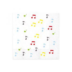 20 Tovaglioli 33 x 33 cm Music Party