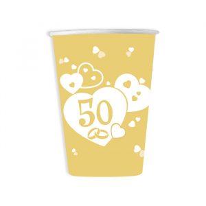 8 Bicchieri 200 cc Nozze d Oro