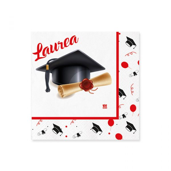 20 Tovaglioli 25 x 25 cm La Mia Laurea