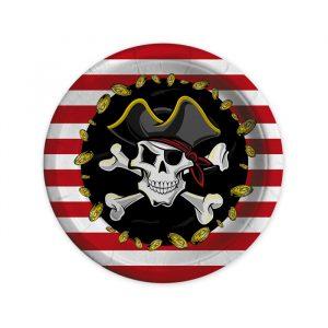 8 Piatti Ø 18 cm Pirates